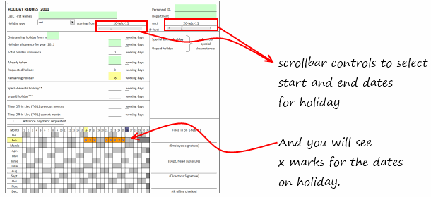 Holiday Request Form in Excel [Awesome Ways our Readers are using Excel]