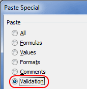 Copy Data Validations from one cell to another [quick tip]