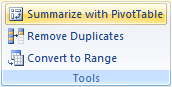 Easy Pivot Tables Excel 2007 Tables