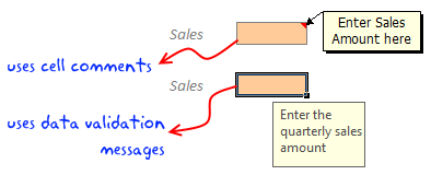 Include Cell - Comments / Help Messages