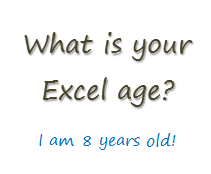 How long have you been using Excel? [poll]