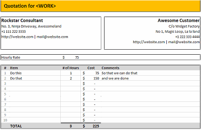 Free Excel Quotation Templates Prepare And Print