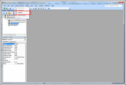Excel to PowerPoint using VBA - Step 4